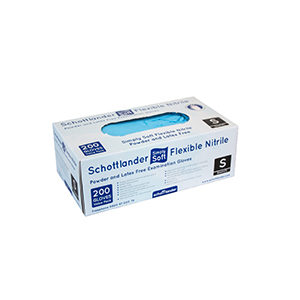 Schottlander Simply Soft Flexible Nitrile Examination Gloves